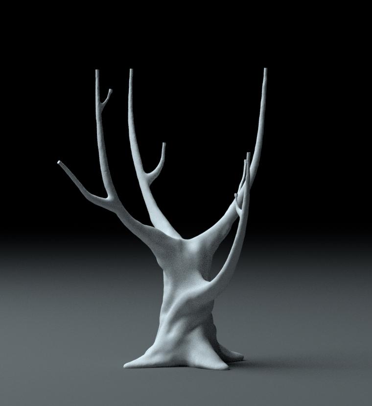 3D model af træ