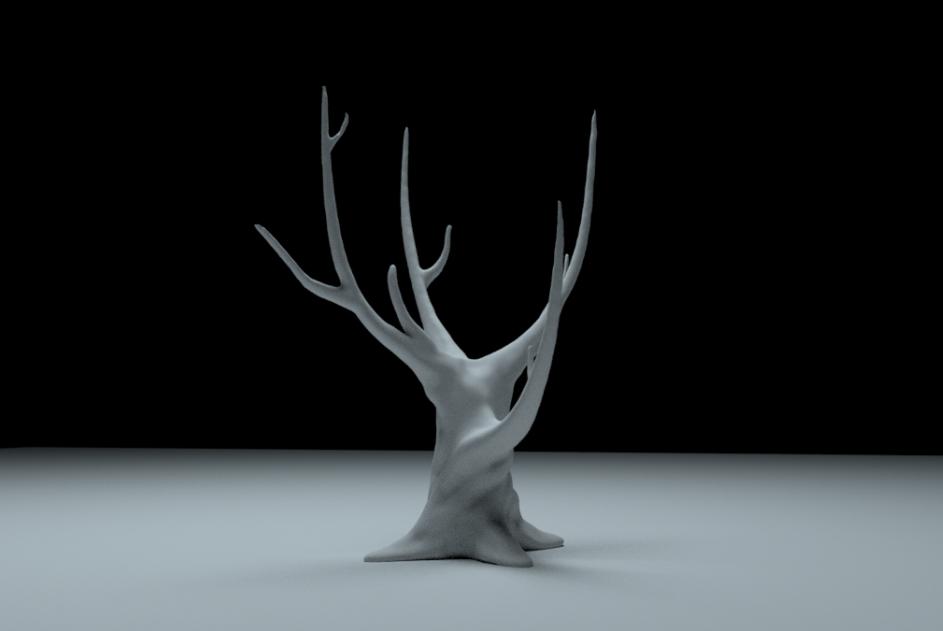 3D tegning for Callesen af et træ