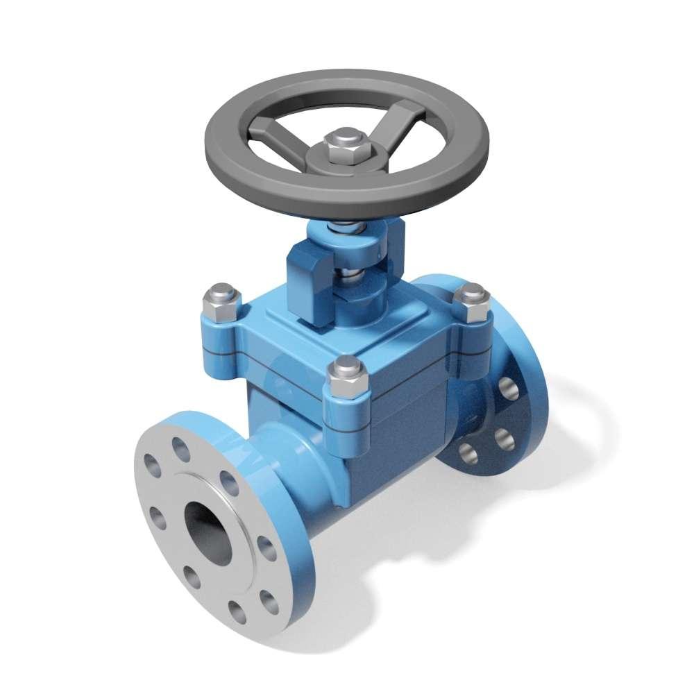 Cad model af ventil
